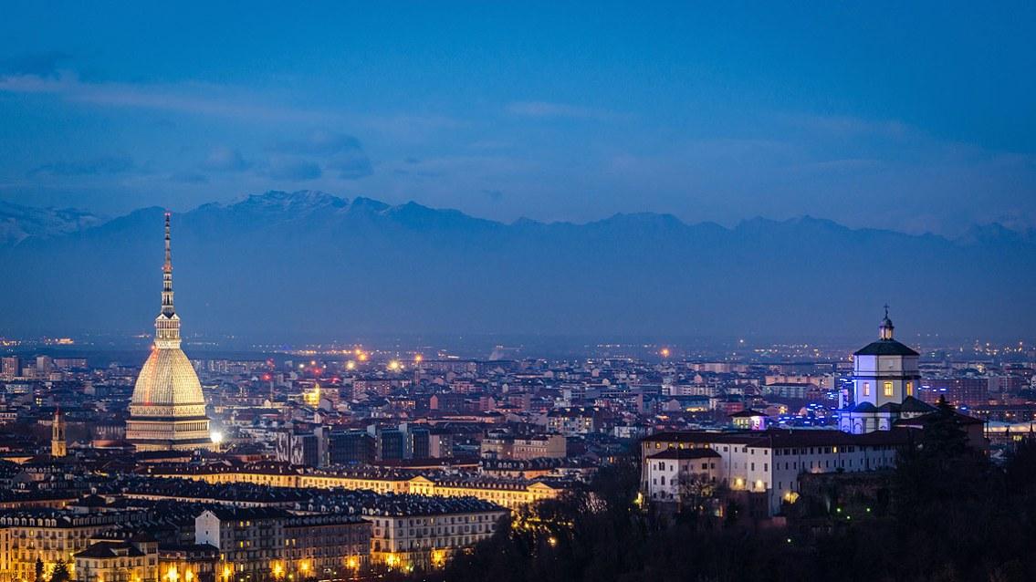 Vista de Turín, las Alpes y Monte Dei Cappuccini, Turín
