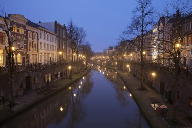 Canal en Utrecht, Holanda