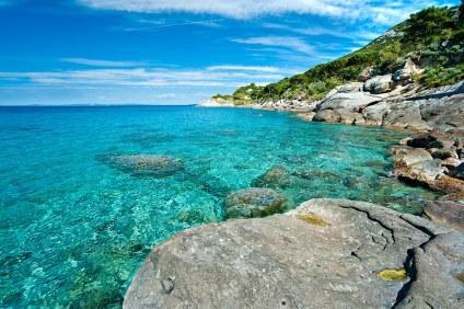 Playa de Sant'Andrea, Zanca. Entre Marciana y Chiessi.