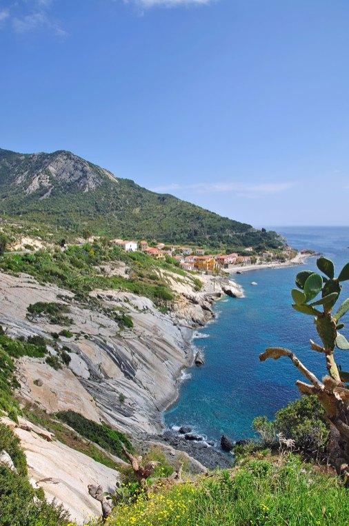 Vista desde la Punta della Testa, entre Chiessi y Pomonte, Isla de Elba