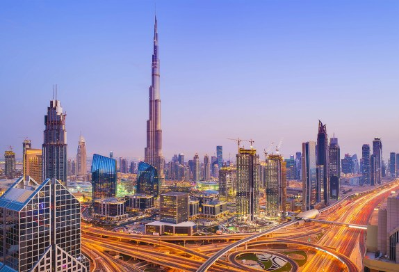 El rascacielos Burj Khalifa, Dubai