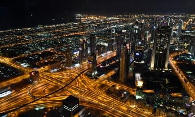 Vista de Dubai desde el Burj Khalifa.