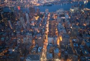 Los Rascacielos Chelse y Midtown desde el Empire State Building, Nueva York, EEUU.