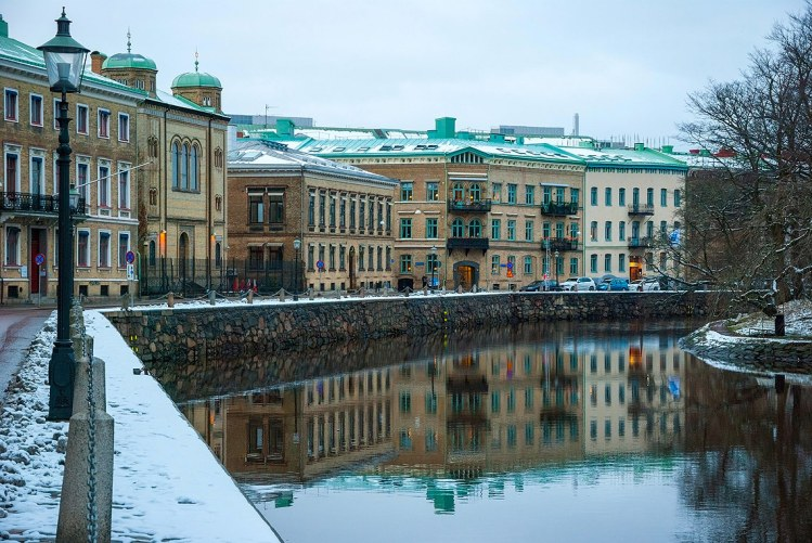 Canal en Gotemburgo.