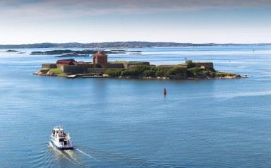 La Fortaleza de Elfsborg en el archipiélago de Gotemburgo, Suecia.