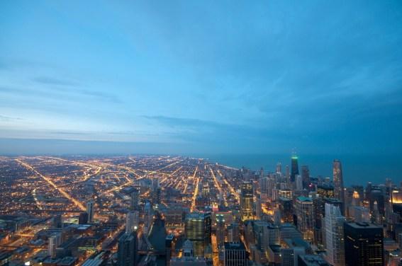 El cielo de Chicago en todo su esplendor desde el Skydeck de la Torre Willis