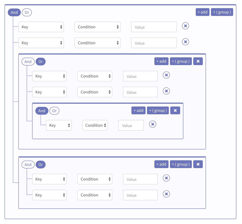 FilterBuilder UI Component For Vue js 2 - Vue js Script