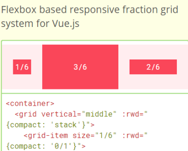 Vue.js Fraction Grid Component