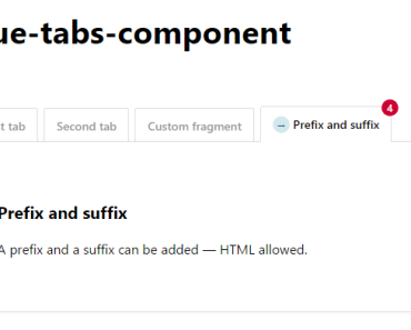 Easy Vue Tabs Component