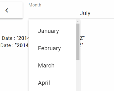 Material Month Calendar For Vue.js