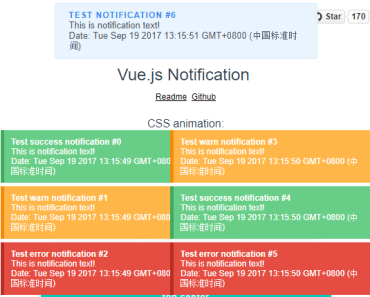 Vue.js 2 Library For Showing Notifications