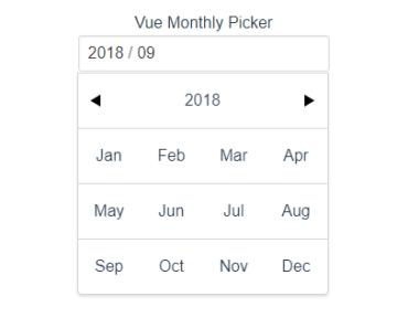 VueJS Monthly Picker Component
