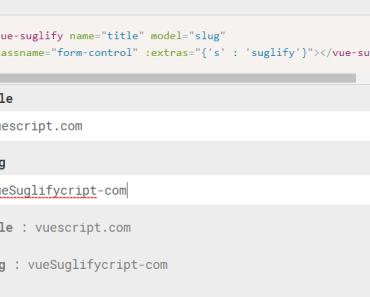 Slugify Your V-model With Vue.js