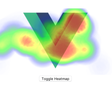 Vue.js Heatmap Component For Tracking User Activity