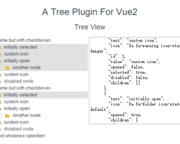 Interactive Tree View For Vue.js 2