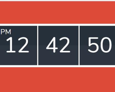 Minimal Digital Clock For Vue.js