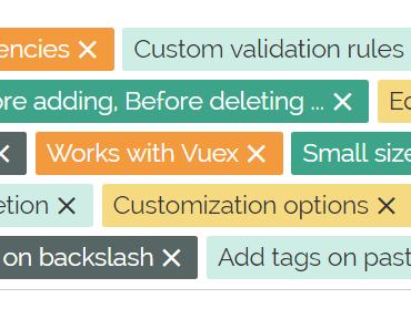 Powerful Tags Input Component For Vue.js 2+