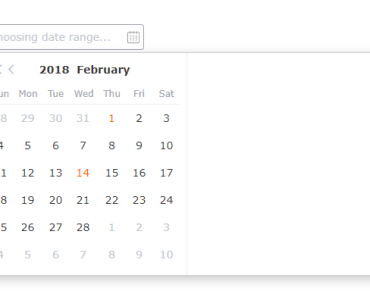 Simple Date And Date Range Picker For Vue.js 2