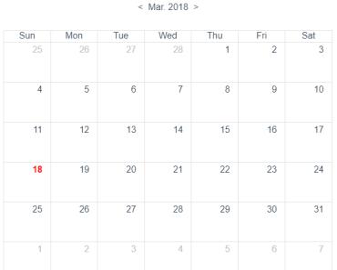 Small Event Calendar Component For Vue.js 2