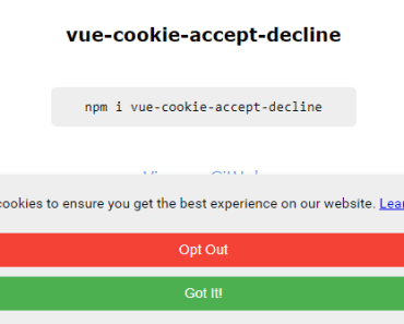 GDPR Compliant Cookie Notice For Vue-min