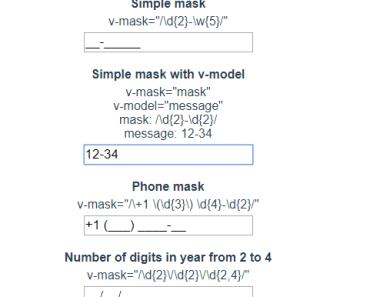 Basic Input Mask Directive For Vue.js - vue-r-mask-min