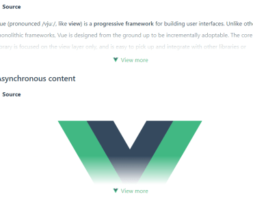 Customizable Foldable Component For Vue.js