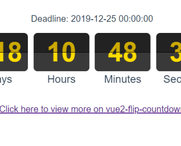 Flip Countdown Component For Vue.js 2