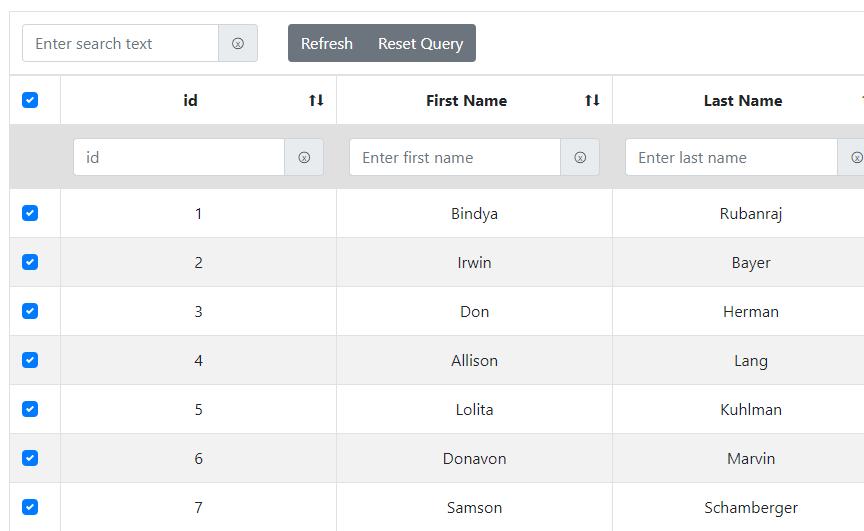 Advanced Bootstrap 4 Table For Vue.js 2 - Vue Script