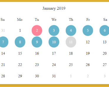 Functional Calendar For Vue.js