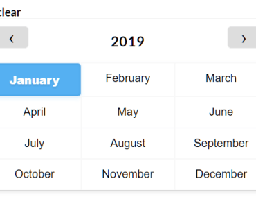 Simple Month Picker For Vue