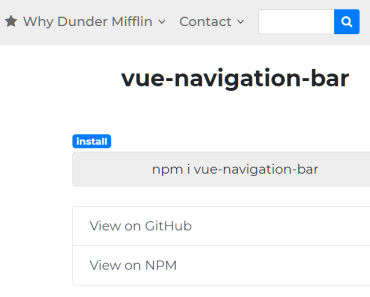 Pretty Navbar Component For Vue