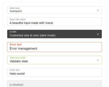 Create Beautiful Input Fields In Vue.js - vue-input-ui