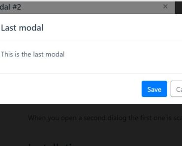 Stackable Modal Component For Vue.js