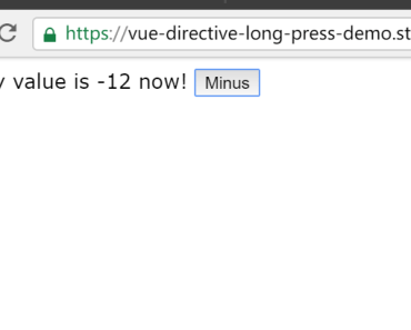Detect Long Press In Vue App