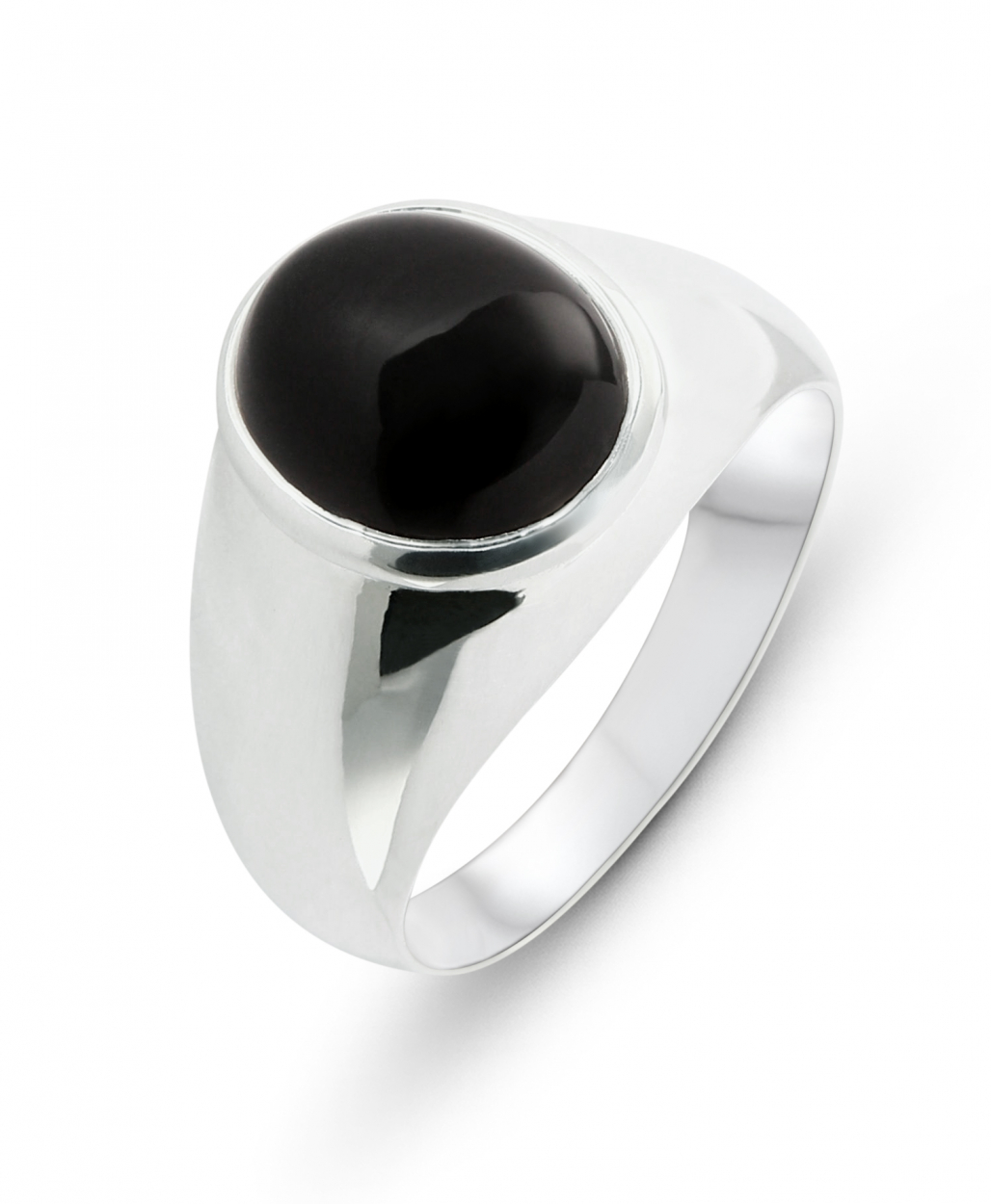 Chevali 232 Re Homme Argent 925 Onyx Ovale 12x10mm Ref 38040