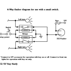 5 Pin Flasher Relay Wiring Diagram Grundfos Submersible Pump 4 Way Flashers