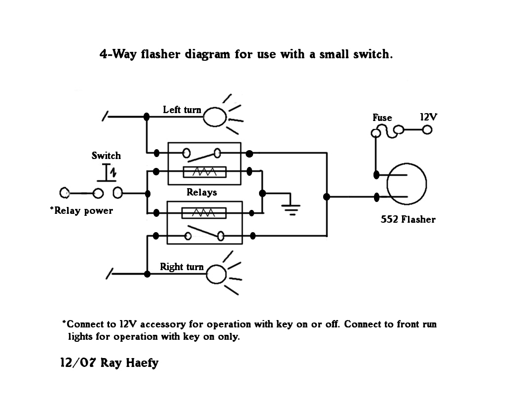 4 pin flasher relay wiring diagram for 3 way switch with lights flashers