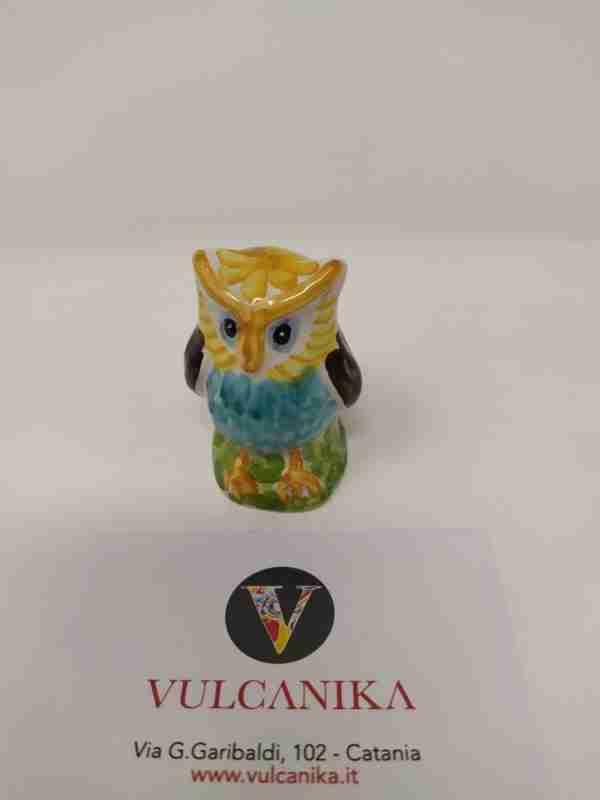 Gufetto in Ceramica di Caltagirone dipinto a mano