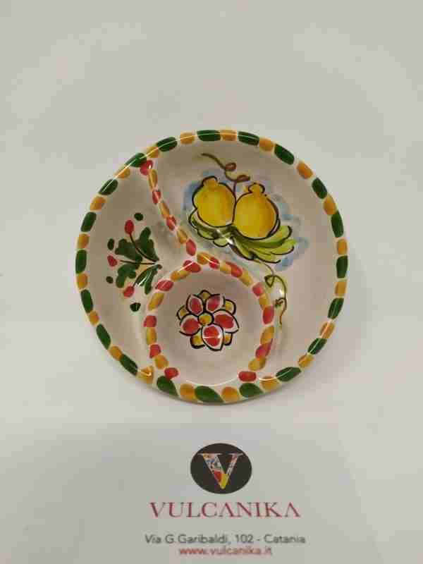 Porta salse Ceramica di Caltagirone dipinta a mano