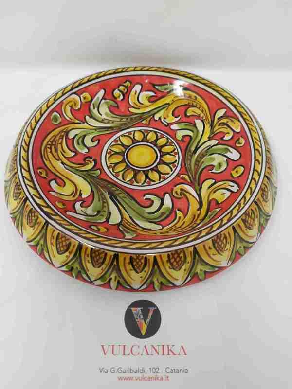 Svuotatasche in ceramica di Caltagirone dipinta a mano