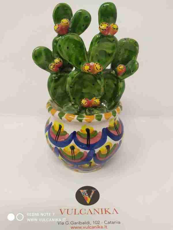 Vaso Pianta Fichi d'India in Ceramica