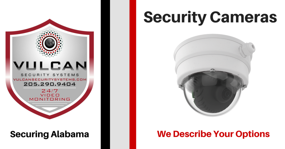 Video Surveillance Camera Options blog post by Vulcan Security Systems, Birmingham, Alabama explains IP video camera options