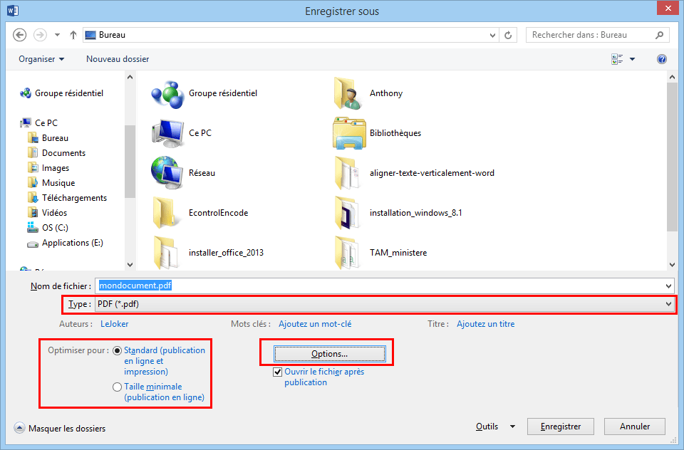 Enregistrer Un Document PDF Avec Word