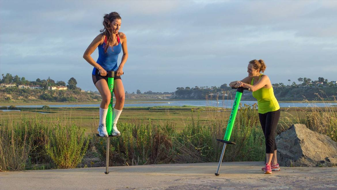 Using a pogo stick for exercise and training