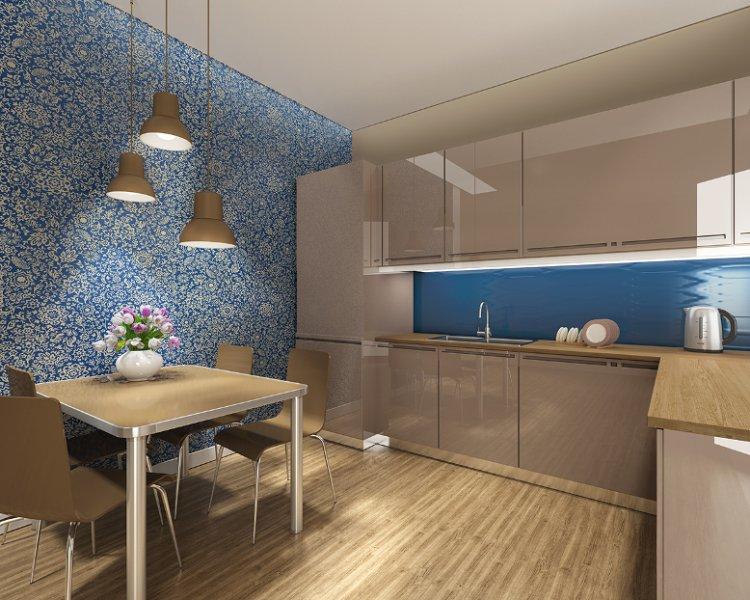 потолок из пластиковых панелей на кухне фото дизайн 2