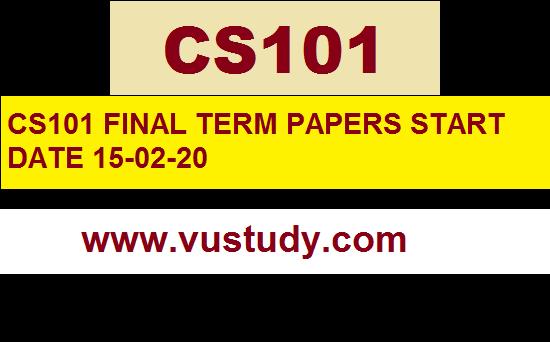 CS101 Today paper 15-02-20