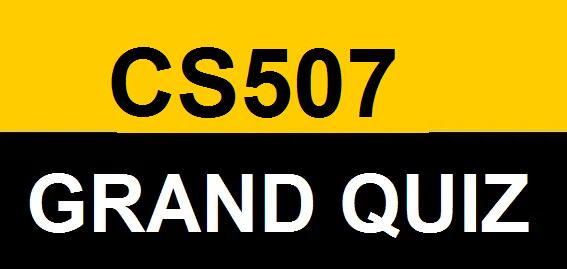 cs507 grand quiz
