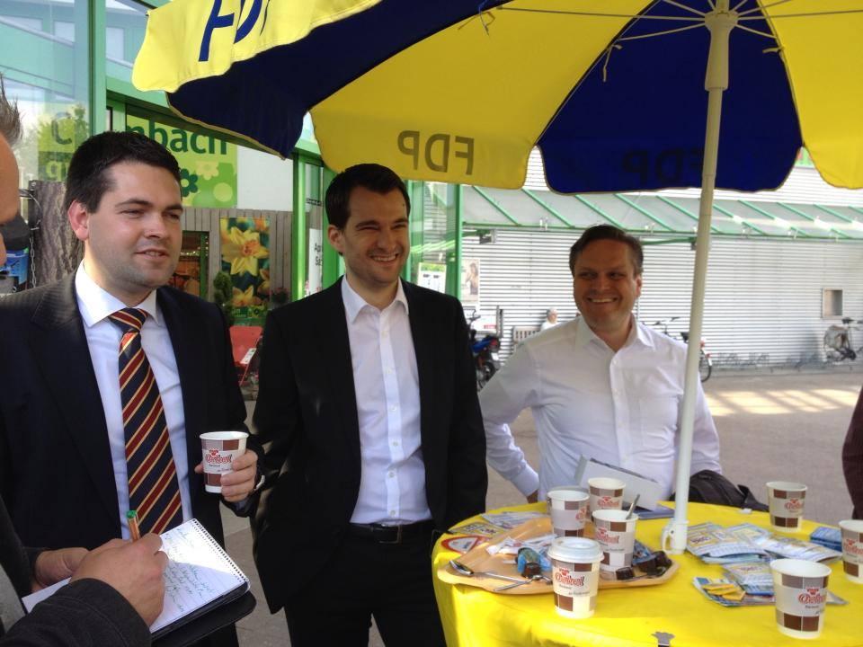 Gemeinsamer FDP-VVD Infostand