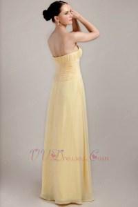 Strapless Daffodil Top Designer Sheath Bridesmaid Dress