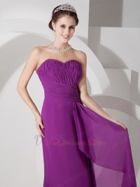 Pretty Purple Chiffon Dress For 2014 JR Bridesmaid